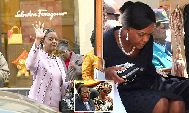 12 Diamond Rings, Ferragamo Shoes And An £80,000 Rolex In A Year: How Mugabe's Wife Splashed Her Cash