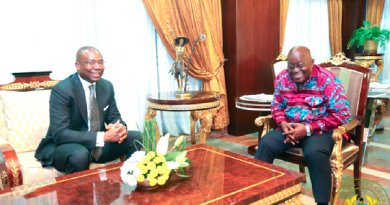 Mr Aigboje Imoukhuede, the AIG Founder with President Akufo-Addo