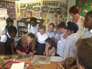 The creators of Hattie B have been visiting lots of schools