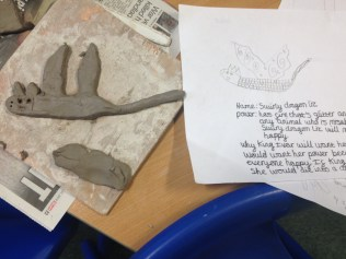 These pupils at Lings Primary School drew and made their own mythical creatures