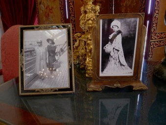 Small photos depicting Mabel Ringling from the glory days of Ca' d'Zan's glamorous past