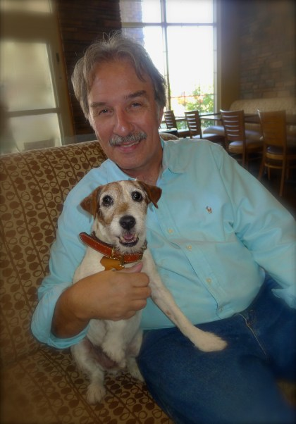 Hubby and Uggie - Love all around