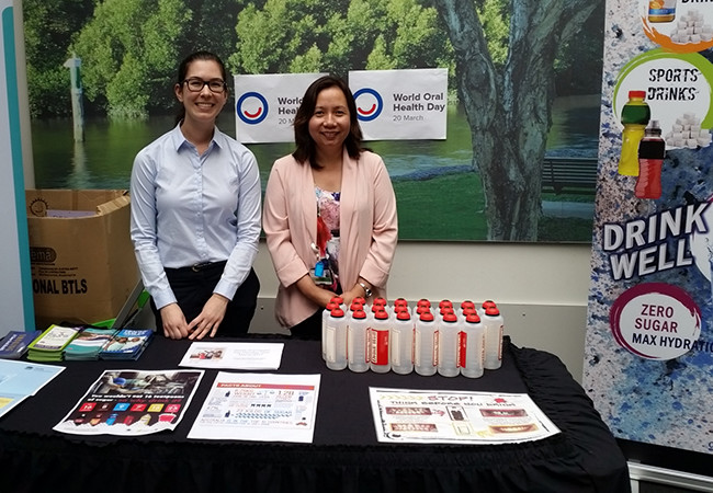 A stall held in the main entrance to Westmead Hospital to celebrate and promote the day.