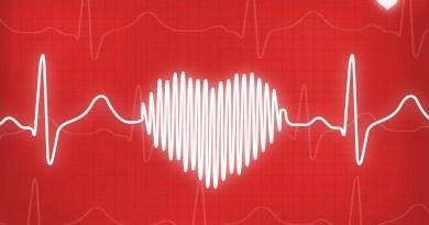 EKG red heart symbol