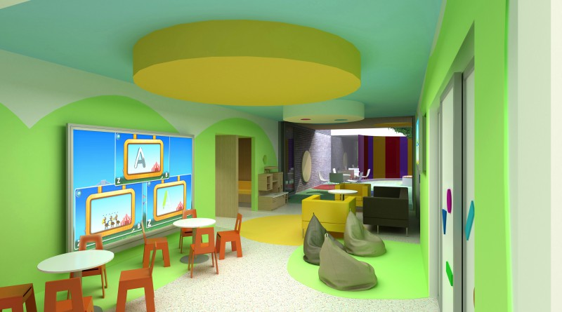 An artist's impression of the new paediatric service at Blacktown Hospital.