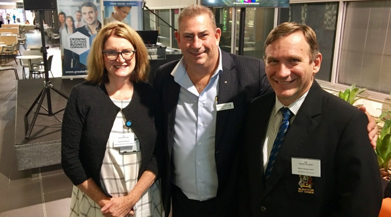 Sue-Anne Redmond, GM Blacktown & Mount Druitt Hospitals, Trevor Oldfield, President of Blacktown Chamber, Mayor Stephen Bali, Blacktown City Council