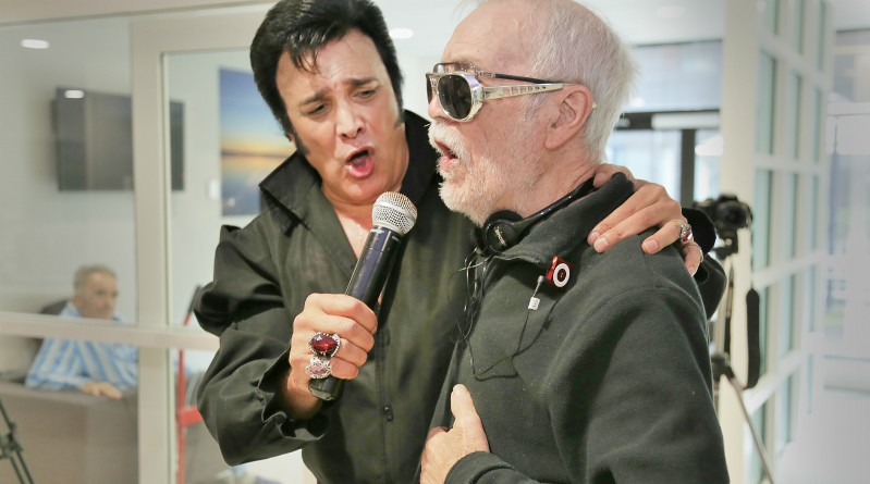 "Blacktown Hospital patient John ""Sean"" O'Malley meets his idol Elvis (impersonator Steve King)."