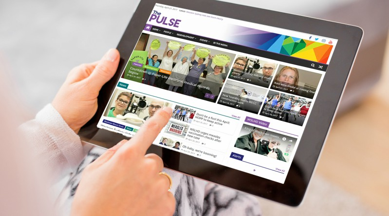 The Pulse, digital, WSLHD, employees