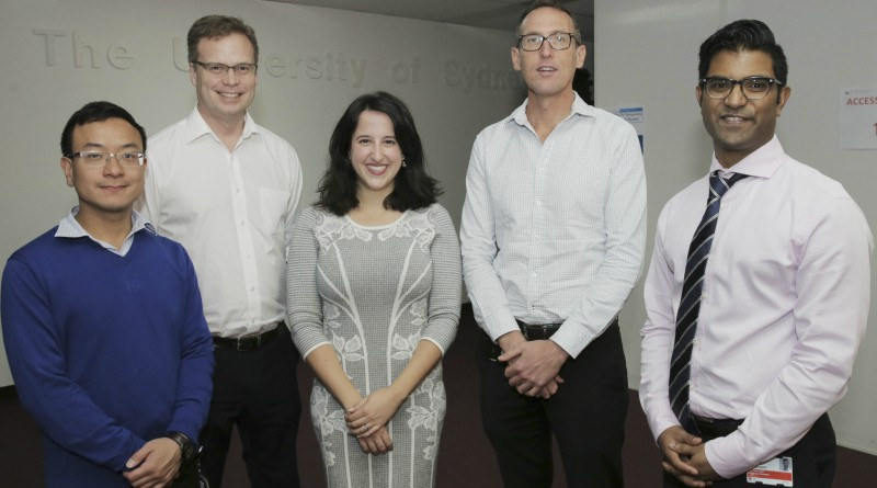Antomicrobial Stewardship group members Edward Ngan (AMS Pharmacist at Blacktown), Dr Matthew Watts (ID Consultant), Kristin Xenos (WSLHD AMS Pharmacist), Dr Matthew O'Sullivan (ID Consultant) and Dr Indy Sandaradura (ID Consultant). Picture: Supplied