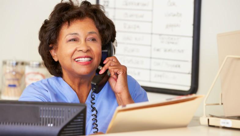nurse on phone