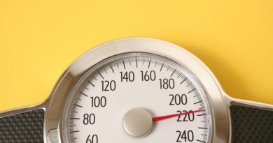 Scales showing obese or overweight levels.