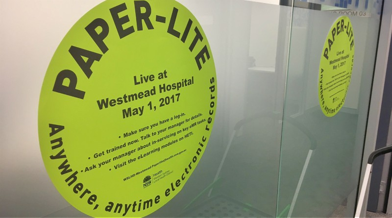 The Paper-Lite command centre at Westmead Hospital., electronic medical records, EMR2