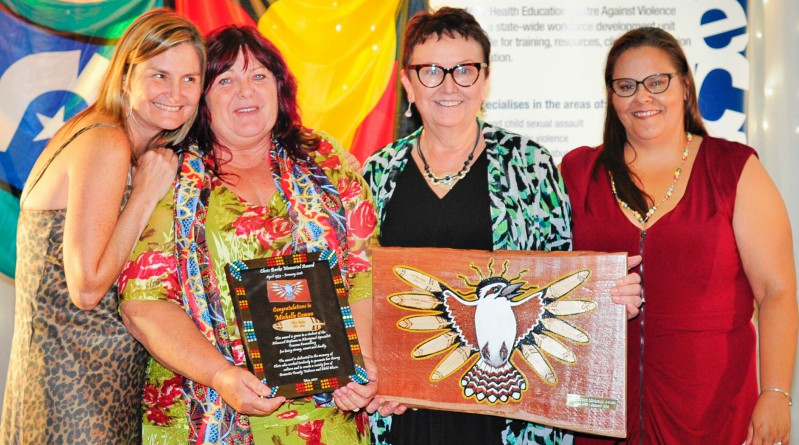 Jo Campbell, Michelle Cowan, Lorna McNamara, Natalie Short at the celebration for graduates of the 2016 Aboriginal Qualification Pathway.
