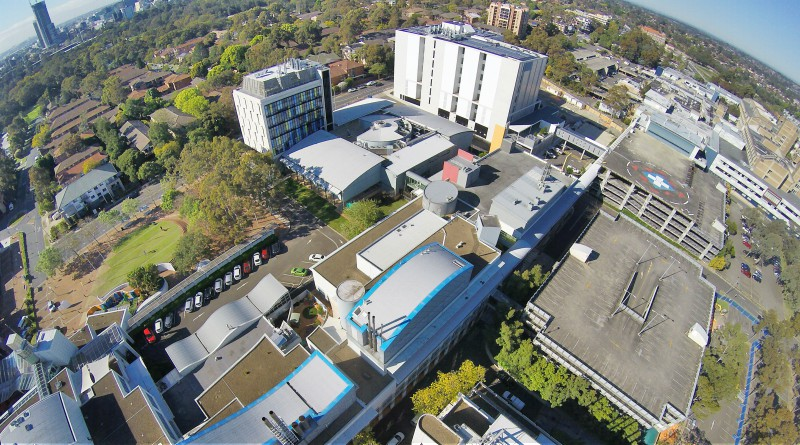 An aerial shot of Westmead Hospital, where redevelopment continues apace.
