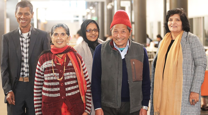 Butan refugees Khadga Poudel, Deuki Maya, Afghanistan refugee Karinh Rahmani and Butan refugee Khadka Budathoki and Afghanistan refugee Hameeda Hameeda.