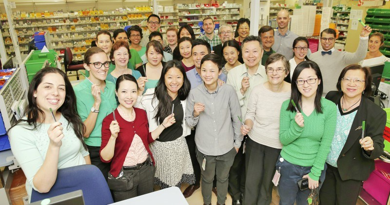 Westmead Hospital's Department of Pharmacy staff celebrate World Pharmacist Day.