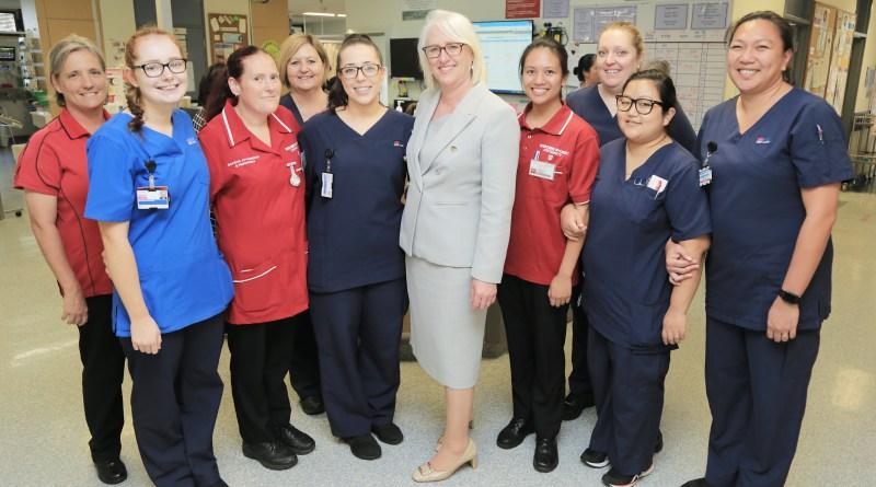 Chief nurse with nurses