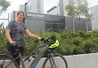 Alison's fully charged for Ride to Work Day