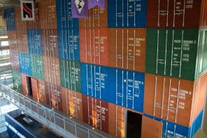 As part of GulfQuest's immersive experience, the museum is designed to look and feel like a container ship. (Derek Cosson/The Pulse)