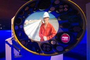 Technology is featured throughout the museum, including in this exhibit on undersea communications cables. (Derek Cosson/The Pulse)