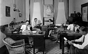 Pensacola, Florida. Interior view of office in room 315 of Brent Building agent for American Fire and casualty Company. Circa 1932. (UWF Archives/Charles T. Cottrell/Special to The Pulse)