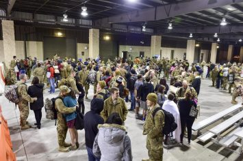 Air Commandos are reunited with their families and friends during Operation Homecoming at Hurlburt Field, Fla., Feb. 7, 2016. Operation Homecoming welcomed 106 Airmen home from their deployment overseas. (U.S. Air Force photo by Senior Airman Jeff Parkinson)