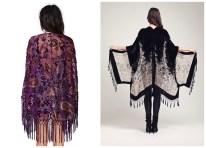 If you're not a shawl person, and you prefer something that makes you feel more like a geisha superhero, try a kimono. Reverse Sweet Worship Kimono (Nastygal) Black Velvet Fringe Kimono (Etsy)