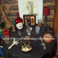 Hekate- Full moon altar
