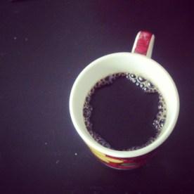 black coffee is my vice.
