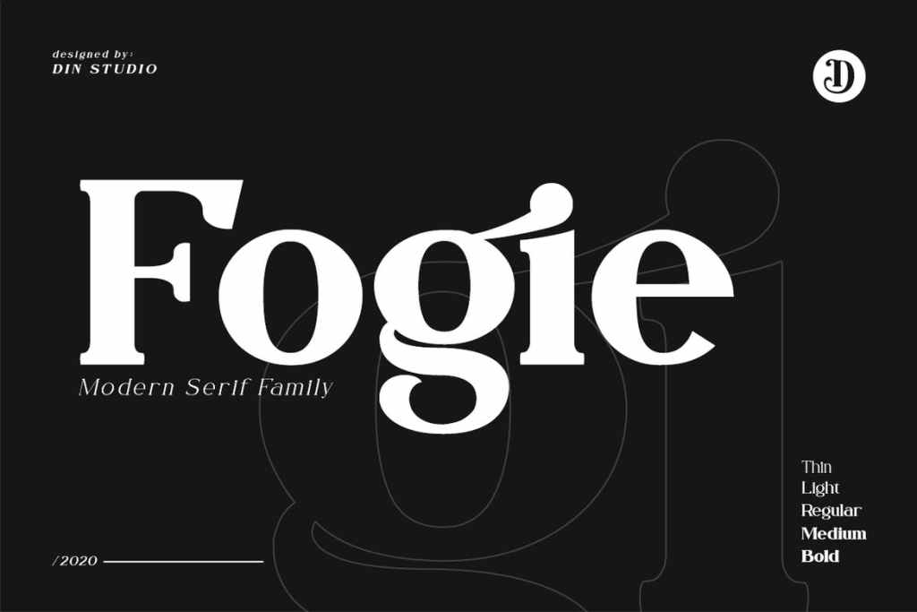 image showing typography design purely made out of serif fonts.