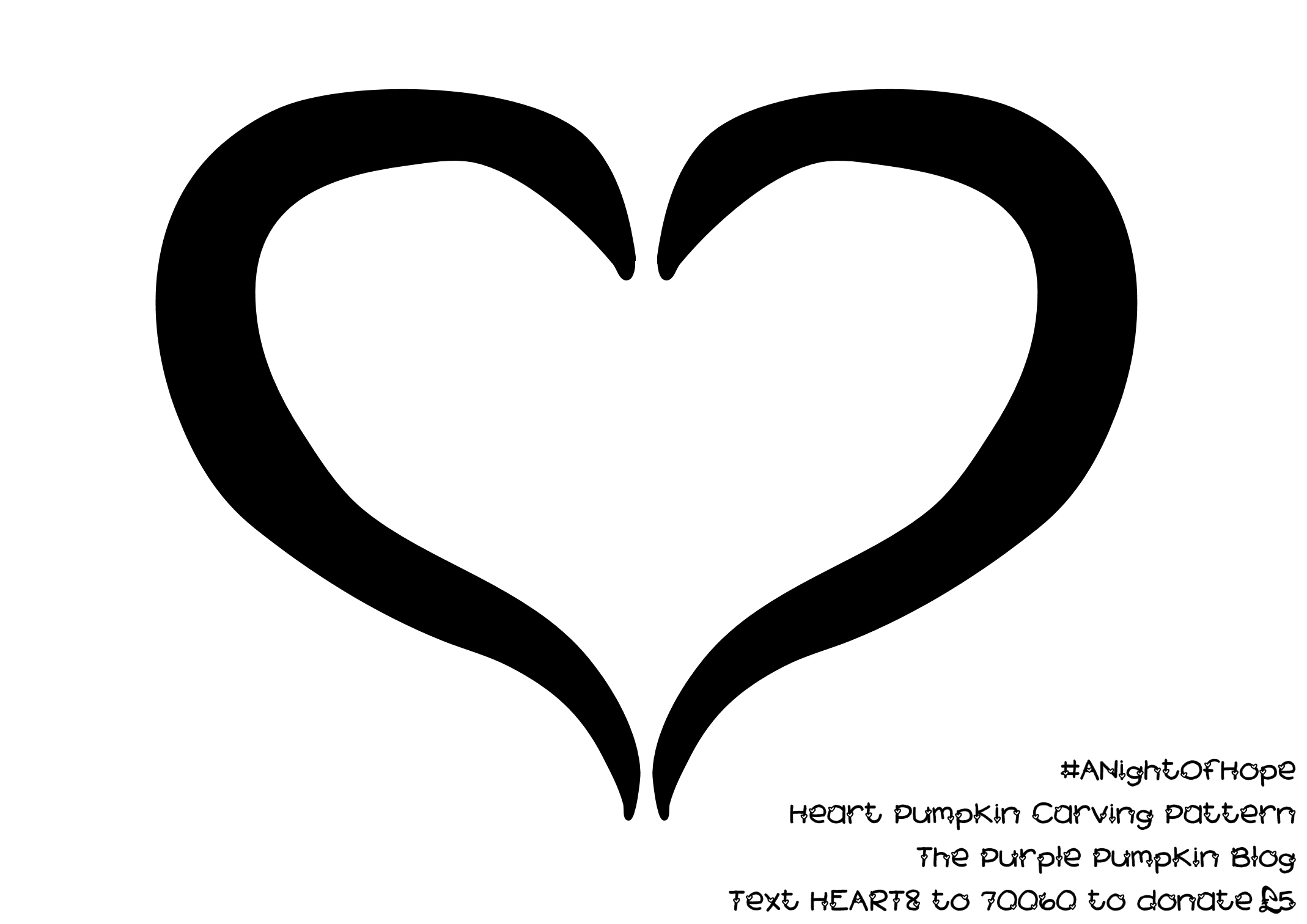 carve a pumpkin with a heart for anightofhope the purple
