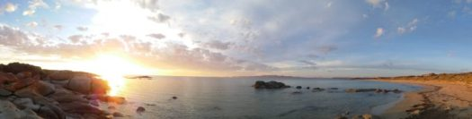 flinders island beach sunset