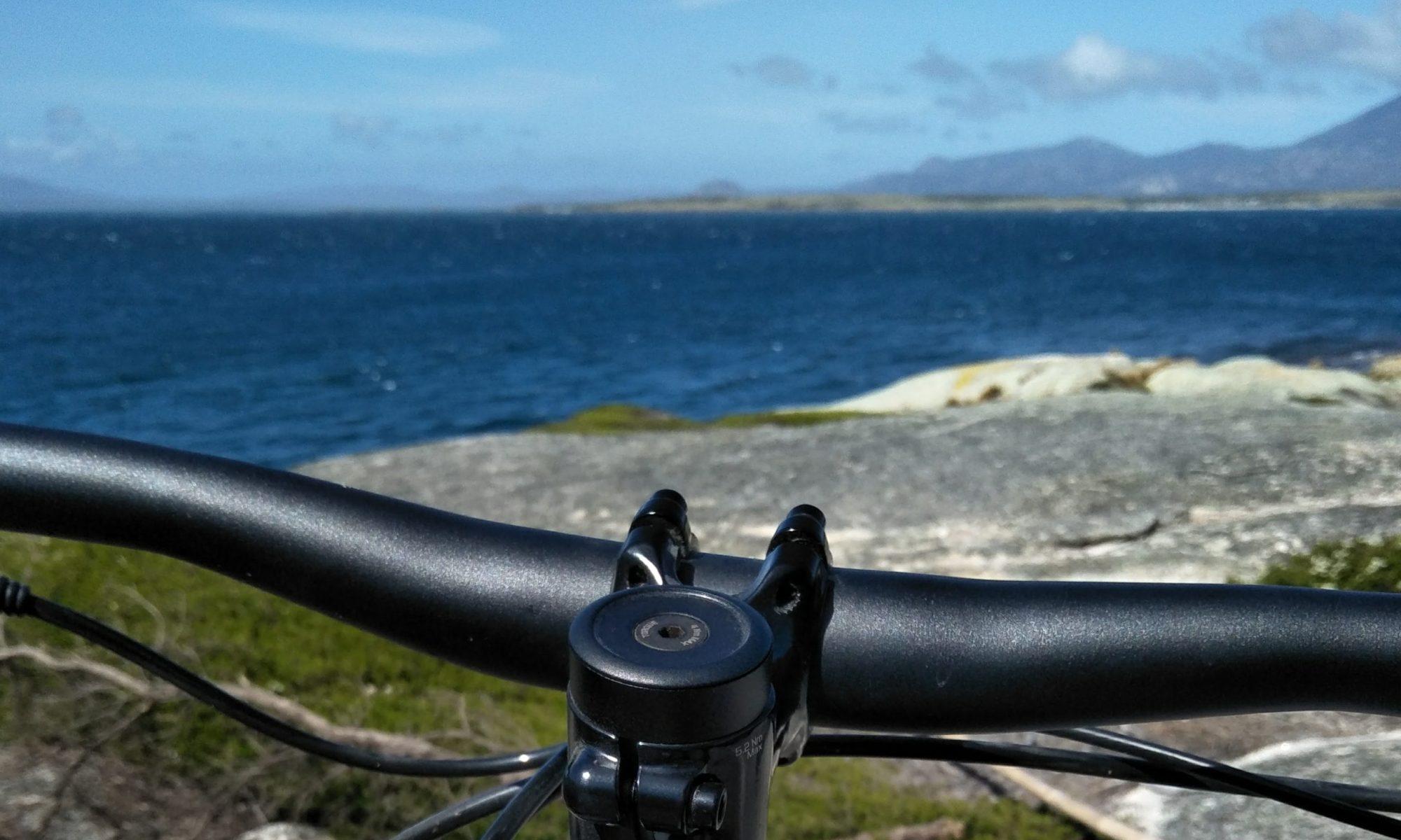 mountain biking flinders island views