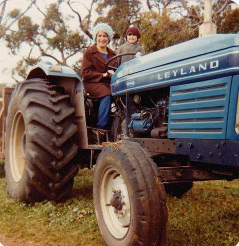 Mel as a child on the Leyland tractor