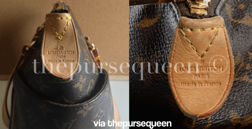 authentic vs replica louis vuitton totally fake vs real lv comparison tag