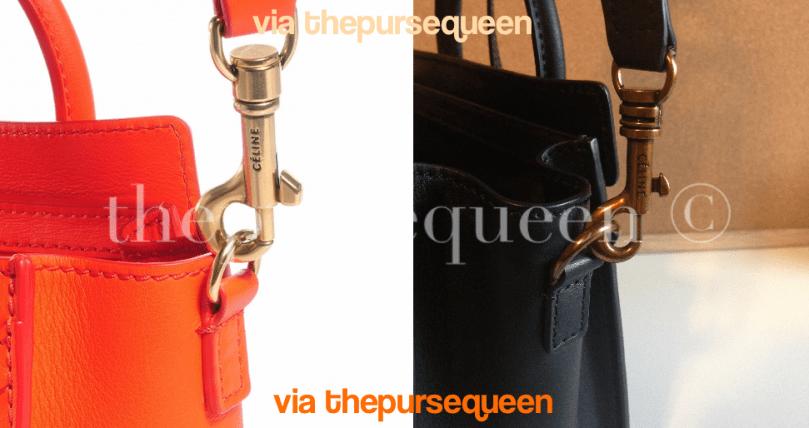 celine nano fake vs real authentic vs replica handle of bag