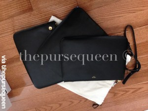 celine trio seperated pouches black leather authentic replica