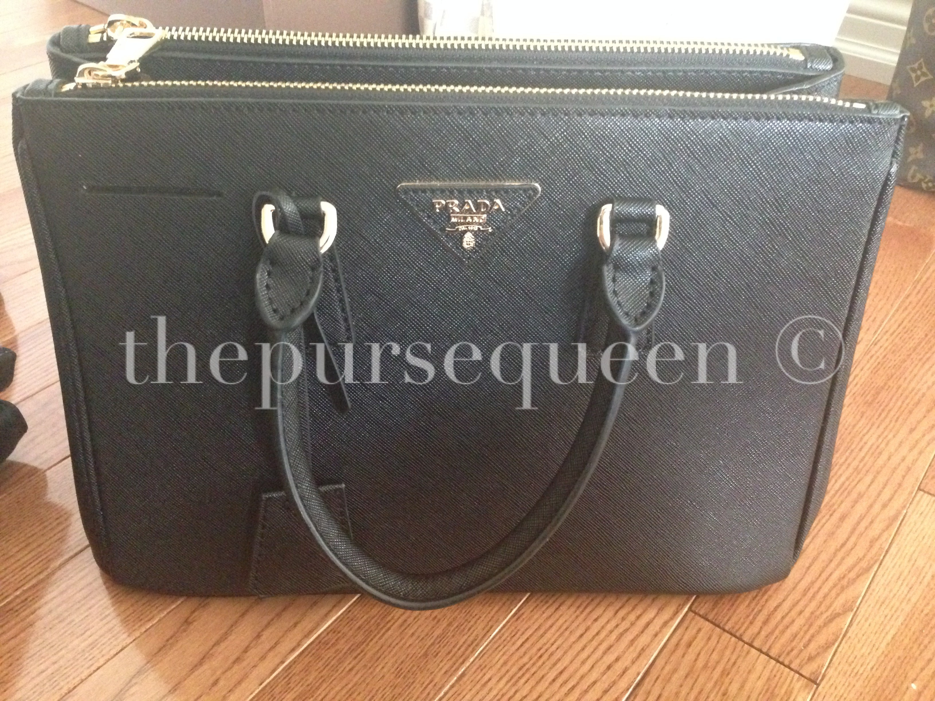 fbdeafe15fa0 authentic prada saffiano black doublezip tote back of prada bag black  saffiano fake prada saffiano replica black replica ...