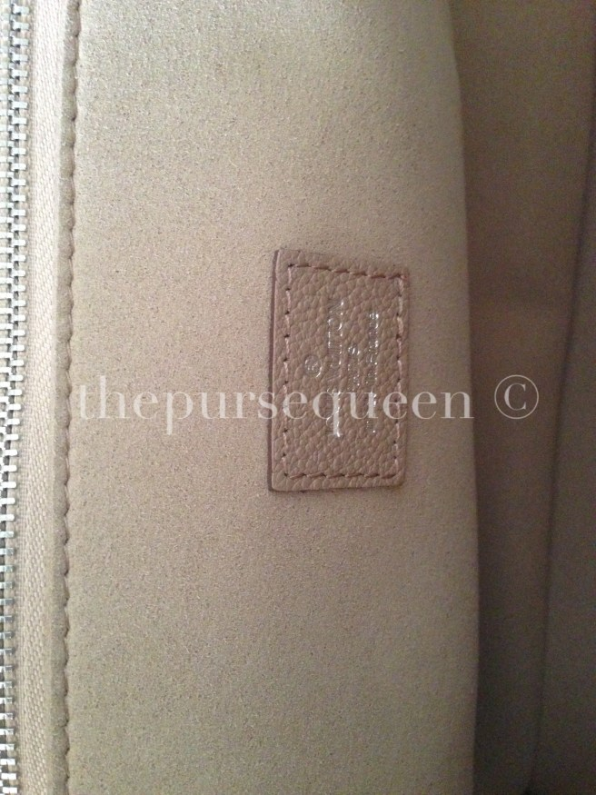 louis vuitton soft lockit beige replica vs authentic fake vs real inside of bag logo
