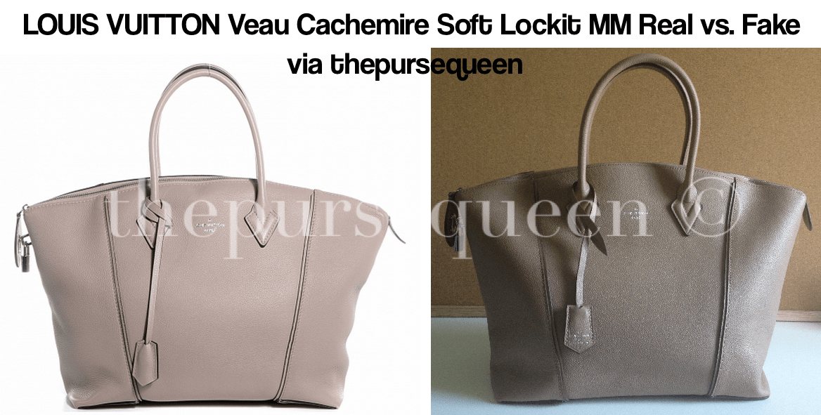 de55259499b8 LOUIS VUITTON Veau Cachemire Soft Lockit MM fake vs real comparison