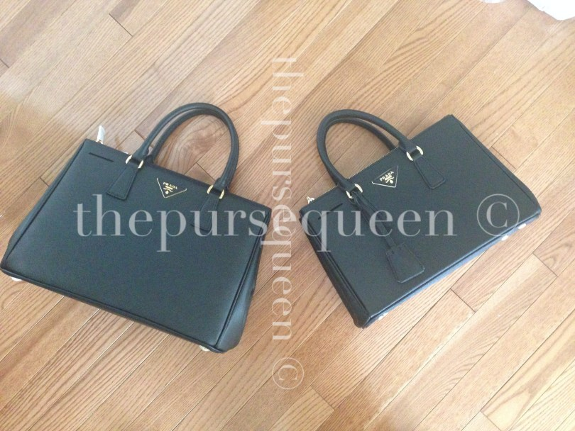 Different Qualities of Prada Saffiano Replica Bags Side By Side #replicabags