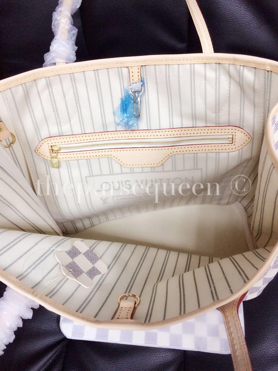 de9000ea52 Louis Vuitton Neverfull Replica - Damier Azur - Authentic   Replica ...