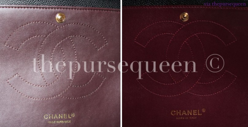 chanel real vs fake replica vs authentic guide interior flap leather 6