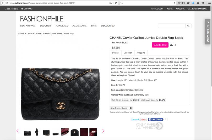 fashionophile ad chanel jumbo black double flap