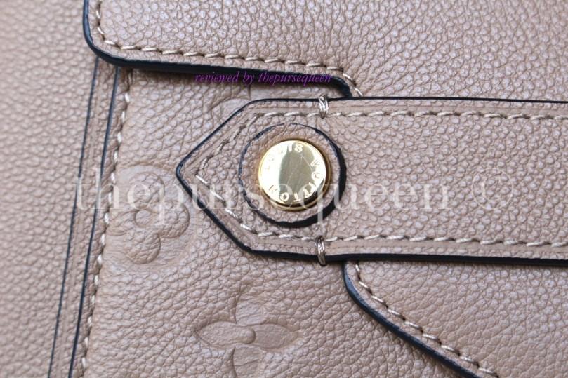 louis vuitton Trocadero empreinte replica authentic review hardware closeup
