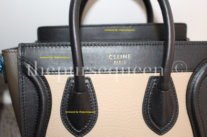 tricolor celine nano luggage bag