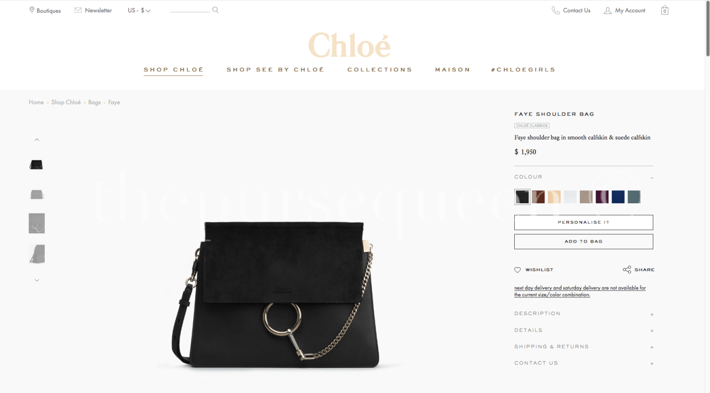 chloe faye bag price usd america usa