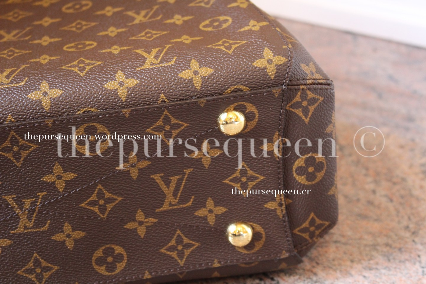 louis vuitton montaigne replica #replicabag #replicabags hardware bottom closeup