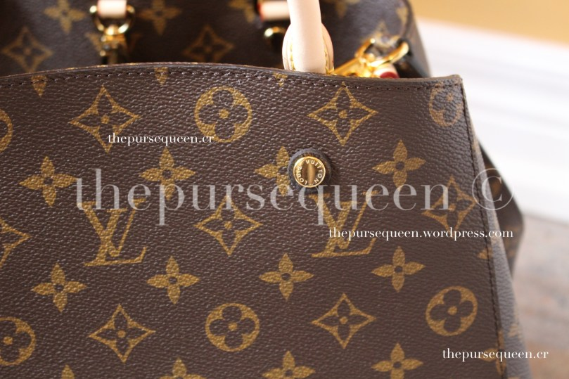 louis vuitton montaigne replica #replicabag #replicabags monogram canvas closeup
