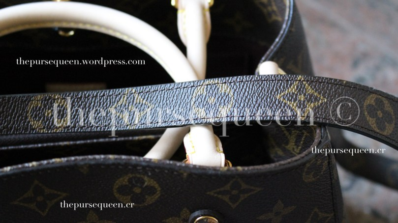louis vuitton montaigne replica #replicabag #replicabags #realvsfake strap